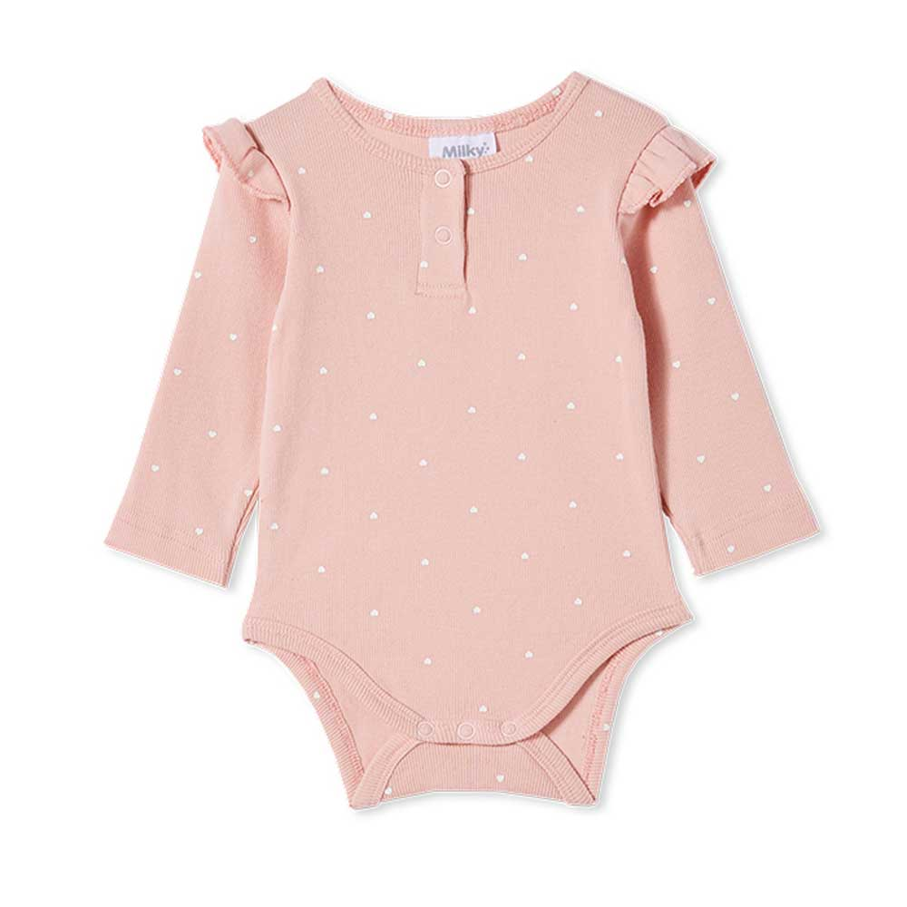 Rib Bubbysuit Misty Rose