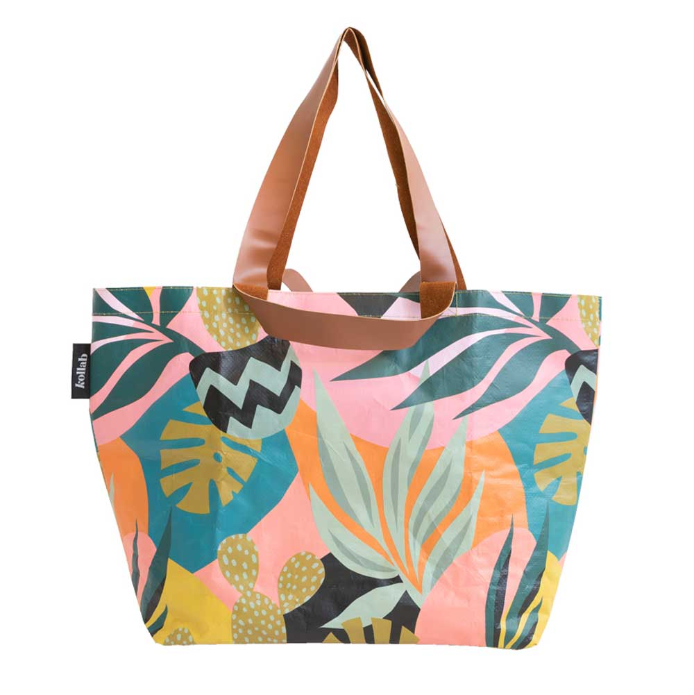 Poly Shopper Tote Monstera