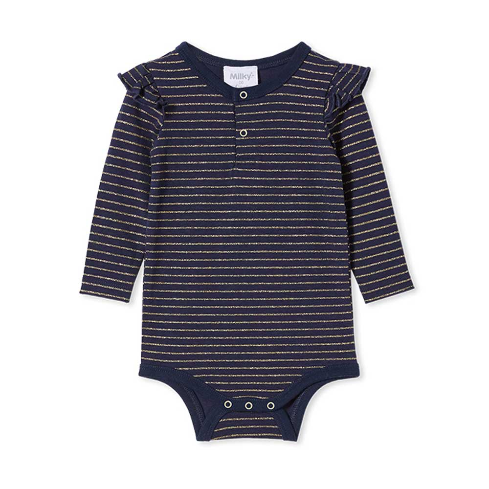 Navy Stripe Bubbysuit