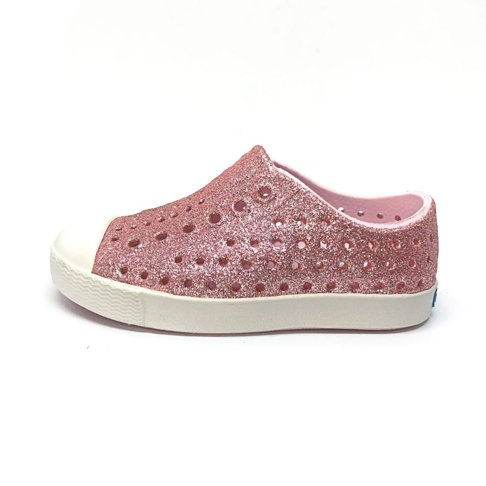Jefferson Shoe Milk Pink Bling/Shell White