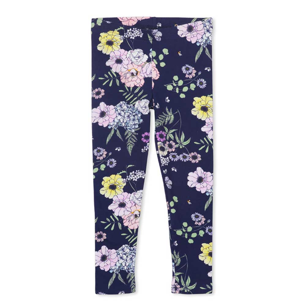 Navy Floral legging