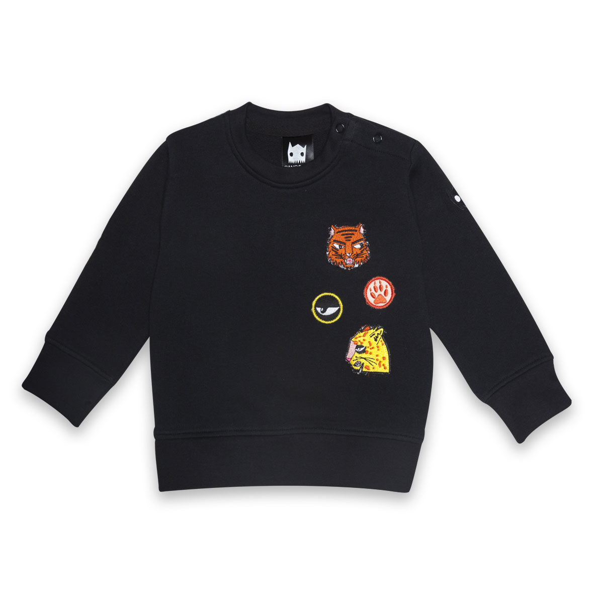 Organic Cat Badges Baby Jumper