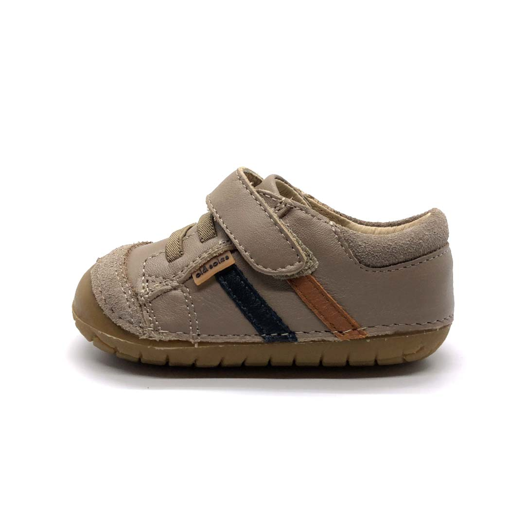 Pave Denzle Toddler Shoes Taupe/Navy/Tan