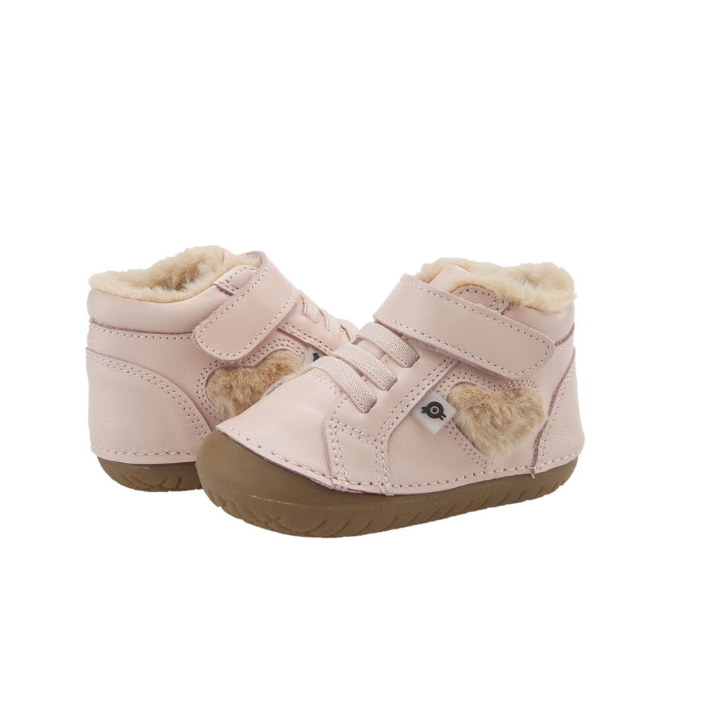 With Love Pave Toddler High Top Powder Pink