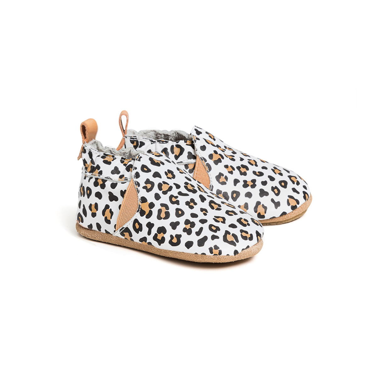 White Leopard Slip On Baby Shoe