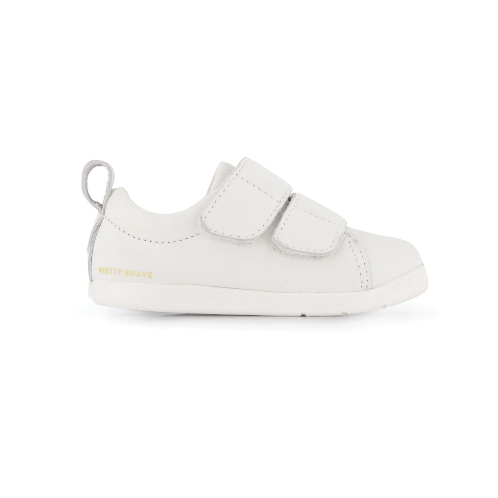 Brooklyn First Walker Shoe White