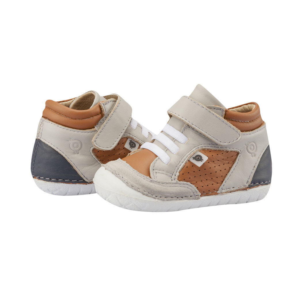 Retro Pave High Top Tan/Gris/Navy