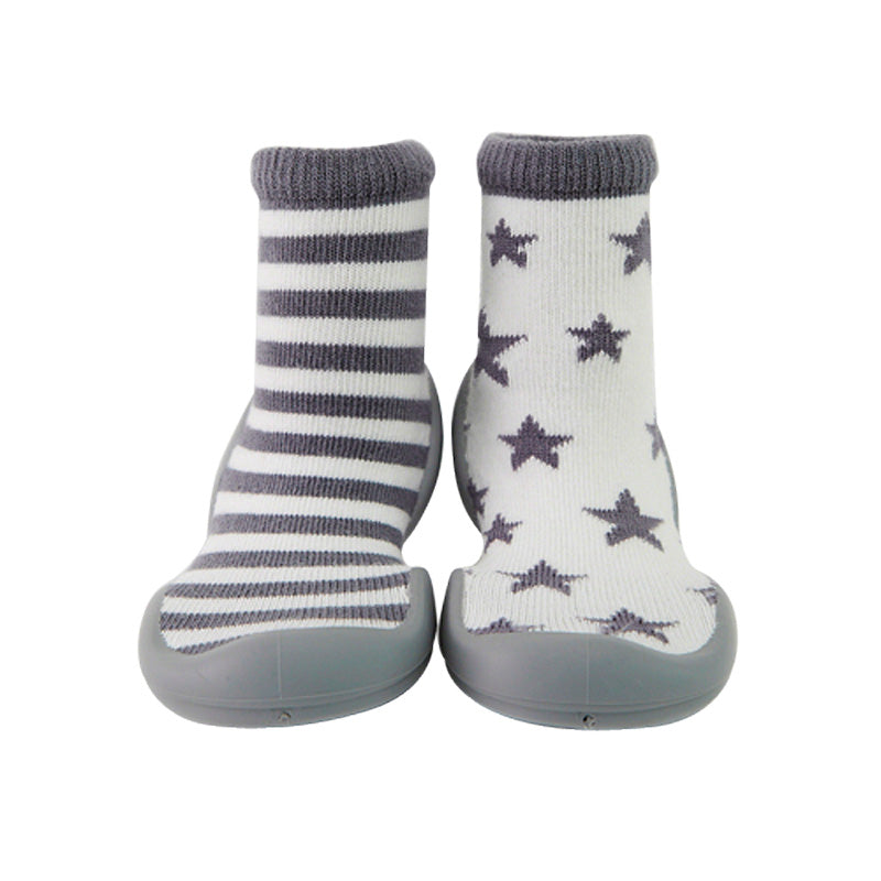 Ring Star Baby Sock Shoe Grey