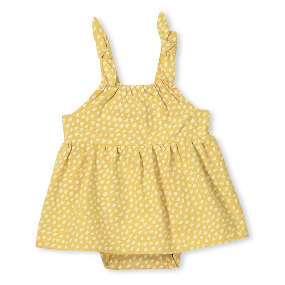 Spot Baby Dress Yellow