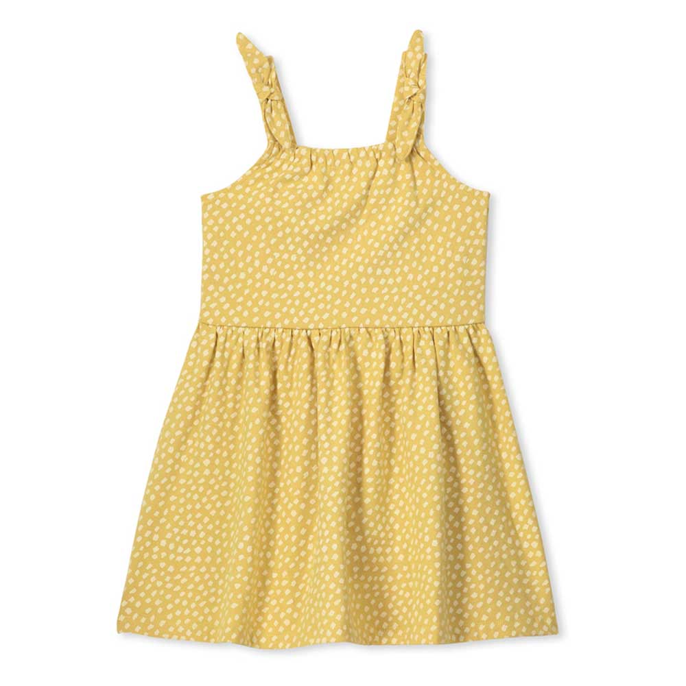 Spot Girls Dress Yellow