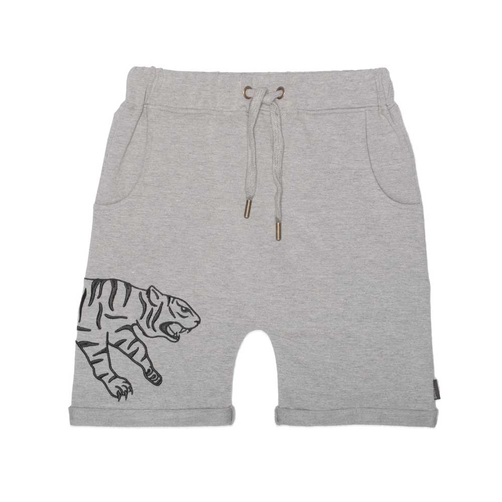 Pouncing Tiger Shorts Grey