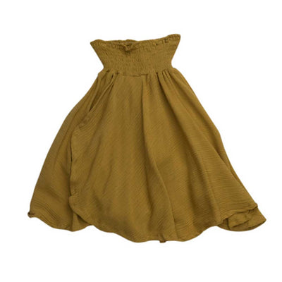 Girls Midi Skirt Mustard