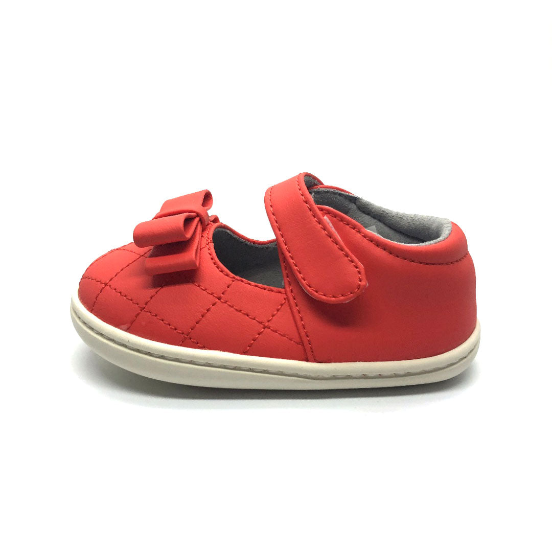 Sienna Bow Mary Jane Baby Shoe Watermelon