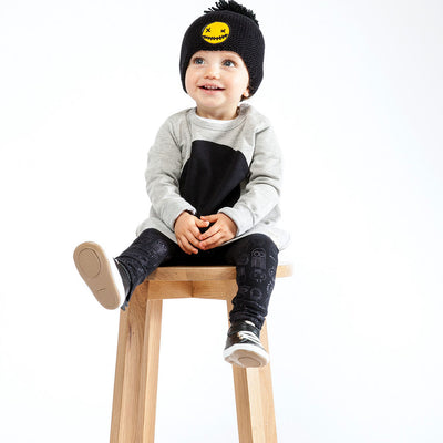 Organic Baby Legging Deep Sea Black