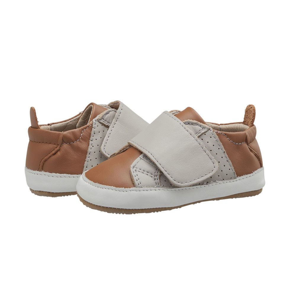 Sport Little Peezy Baby Shoe Tan/Gris