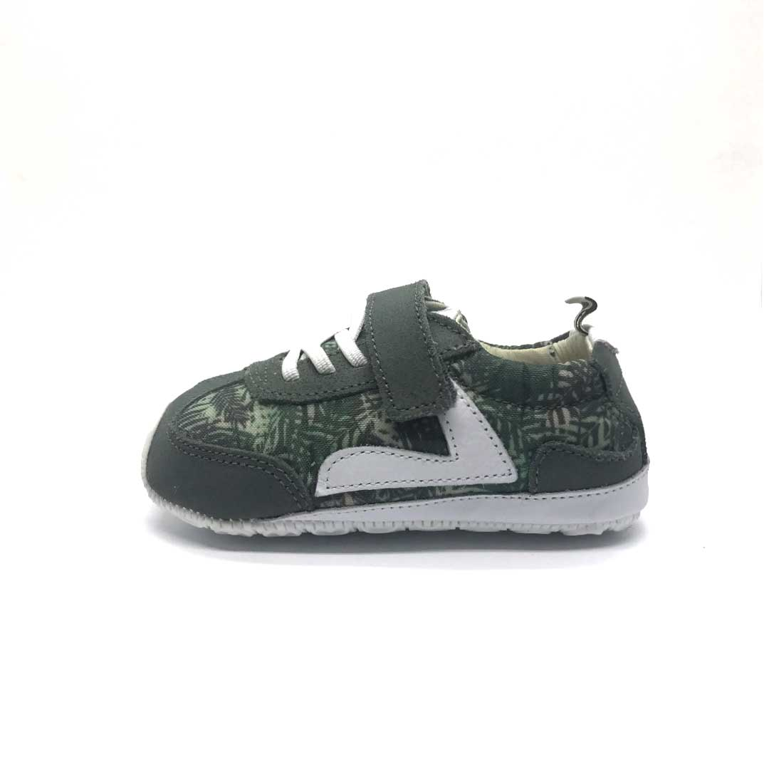 Starty Baby Shoe Green Palm