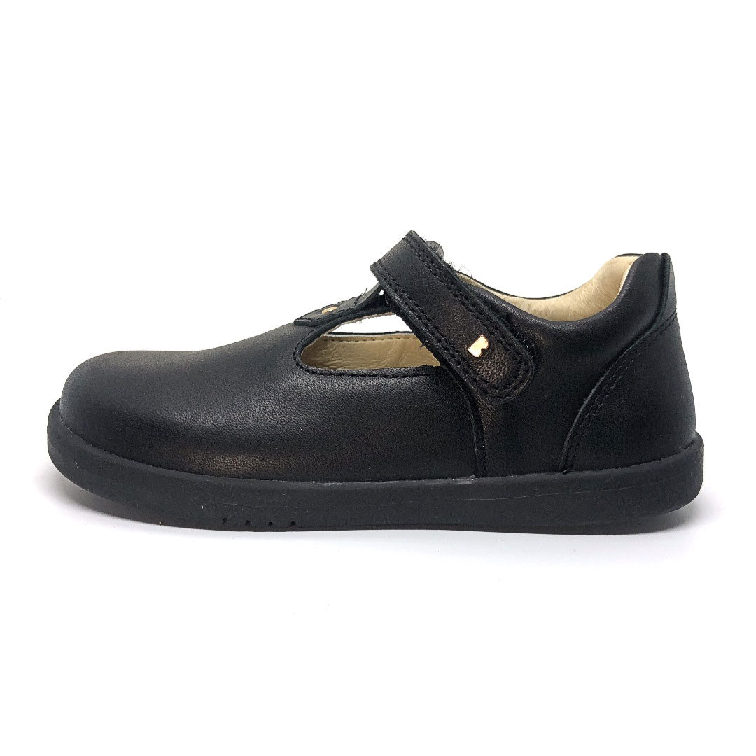 Louise T-Bar School Shoe Black
