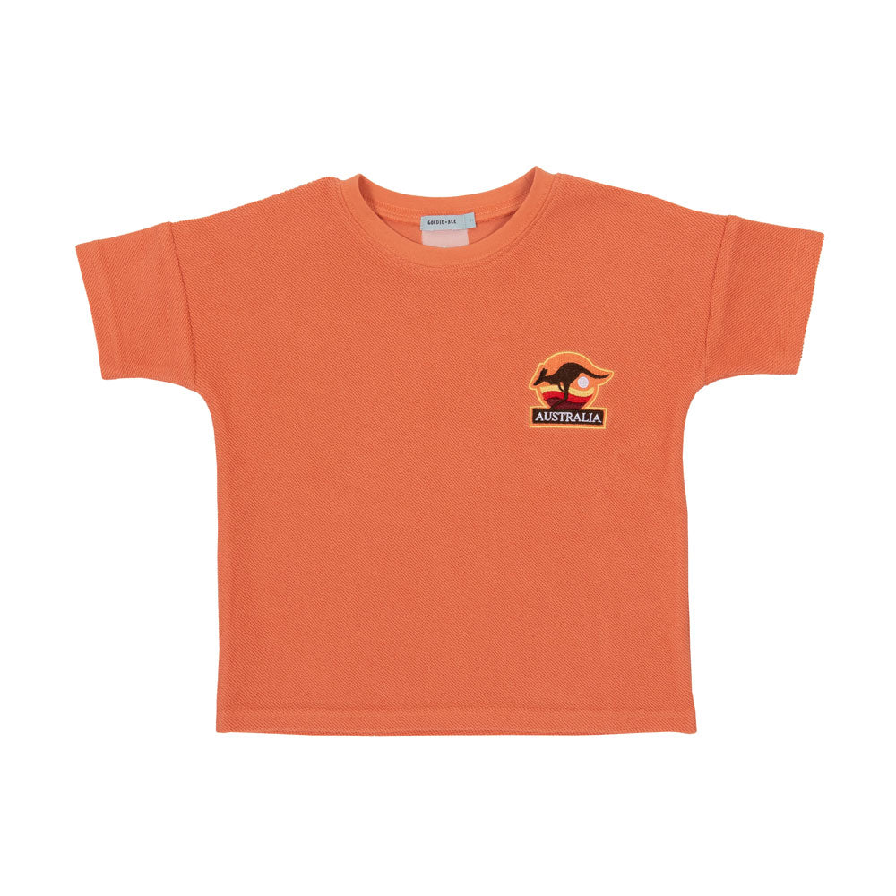 Outback Terry Towelling Tee Flamingo