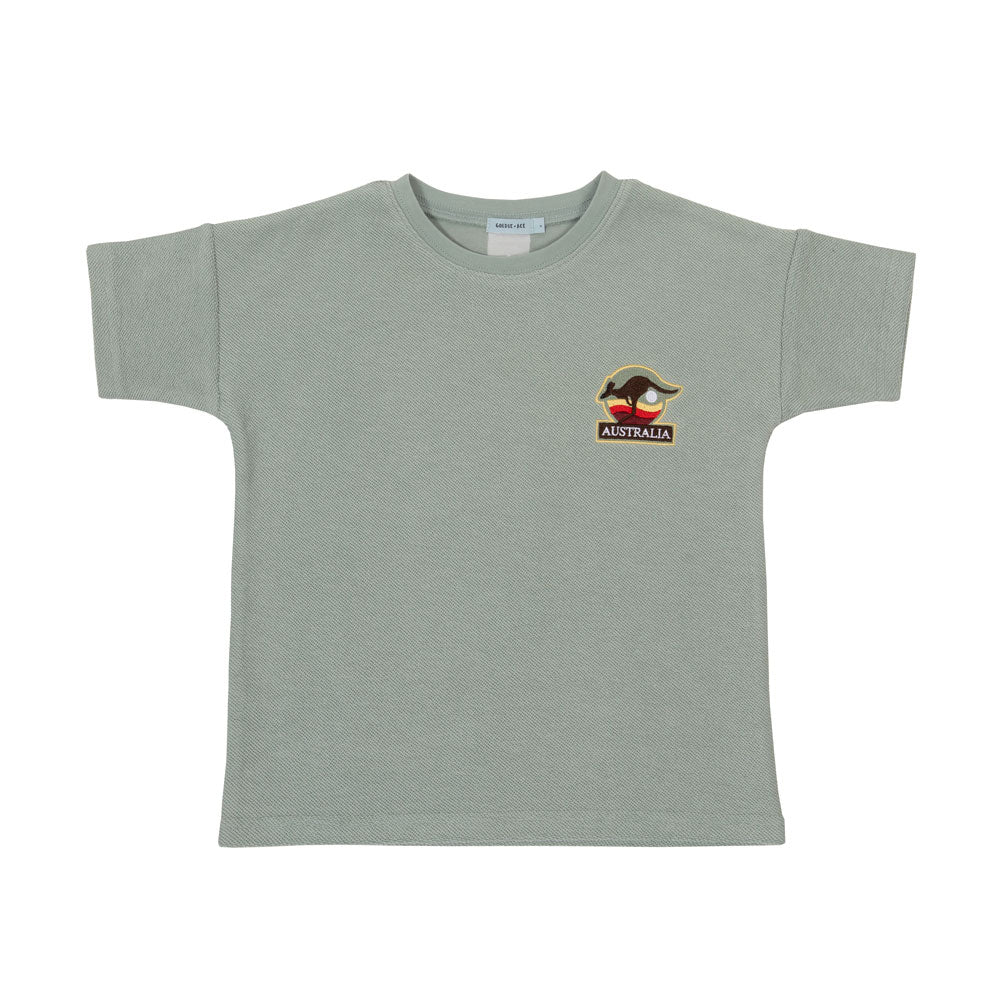 Outback Terry Towelling Tee Sea