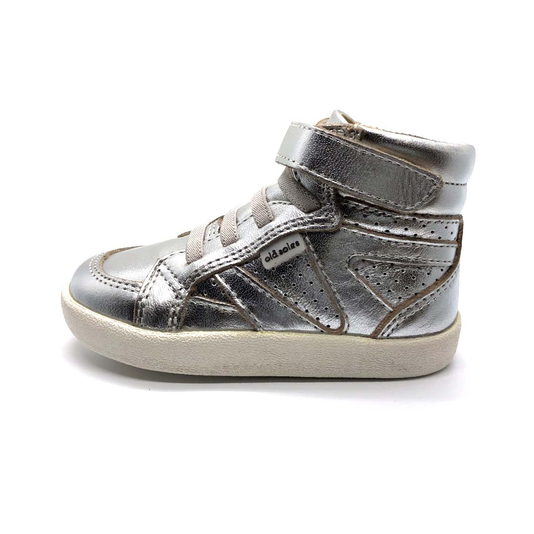 The Leader High Top Boots Silver