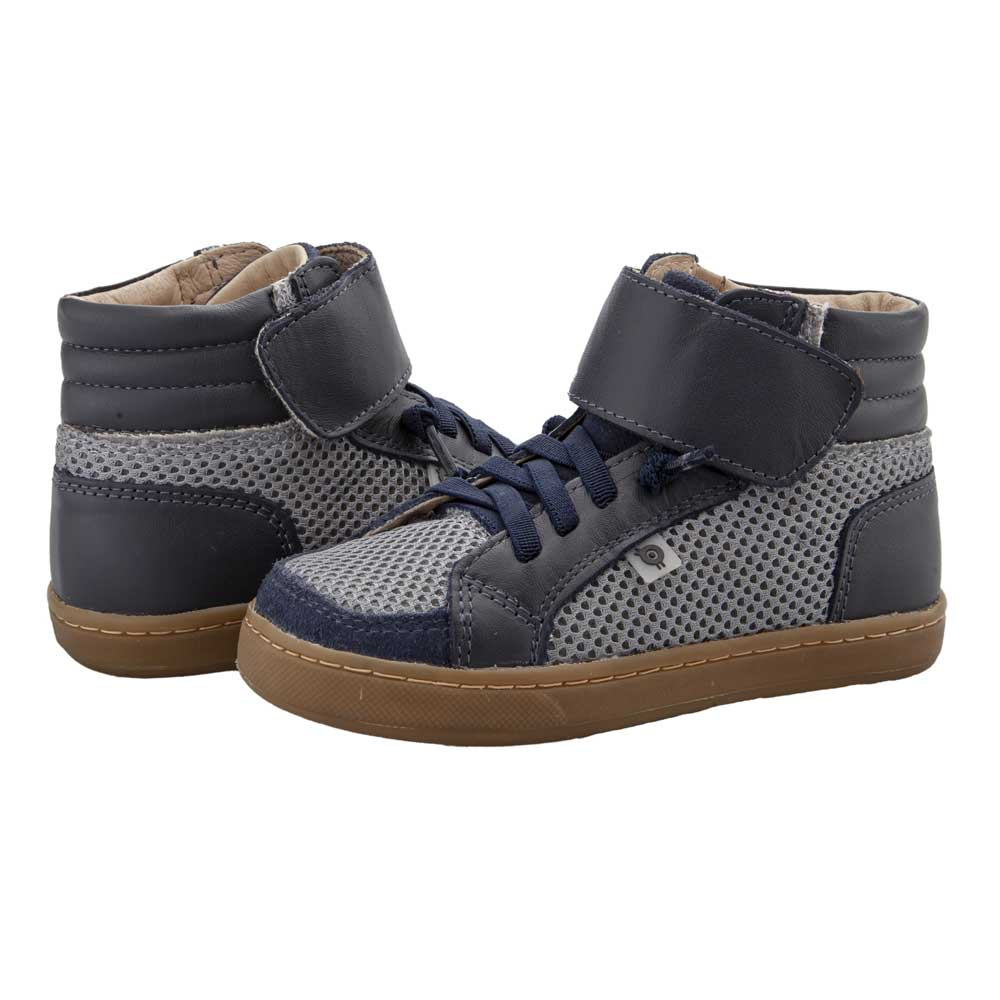 Timber Kids High Top Navy/Grey