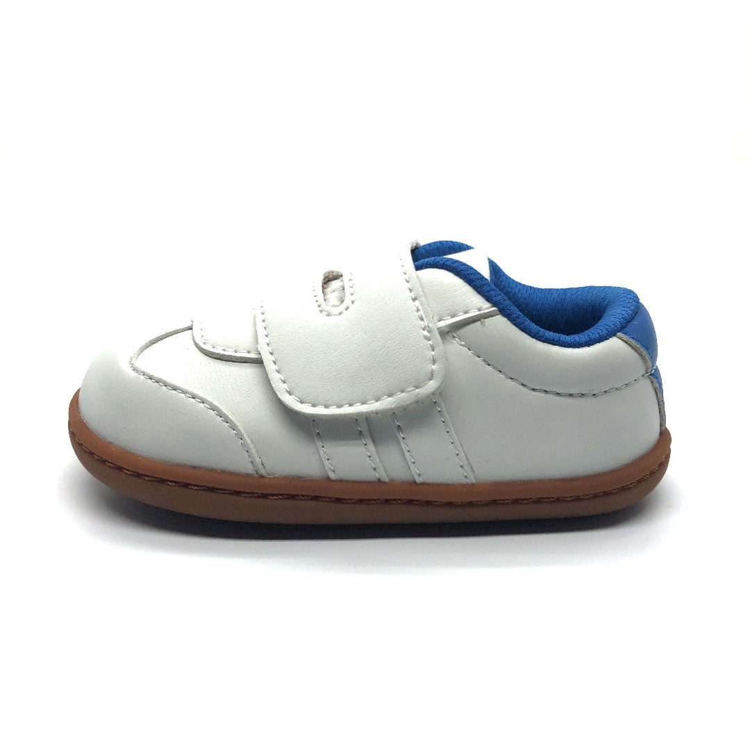 Toby Baby Shoe white and Blue