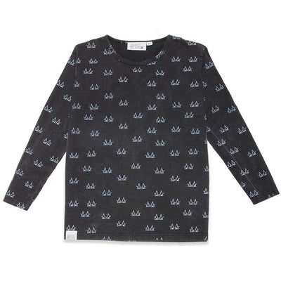 Triangle Eyes Long sleeve Tee Vintage Black