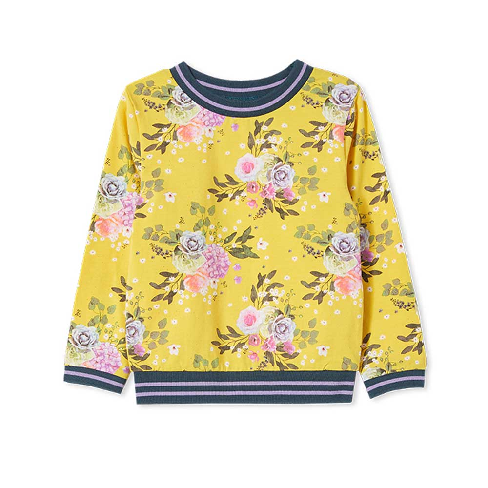 Vintage Floral Girls Sweat