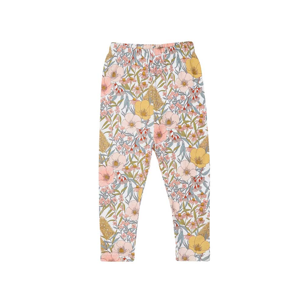 Vintage Floral Girls Leggings