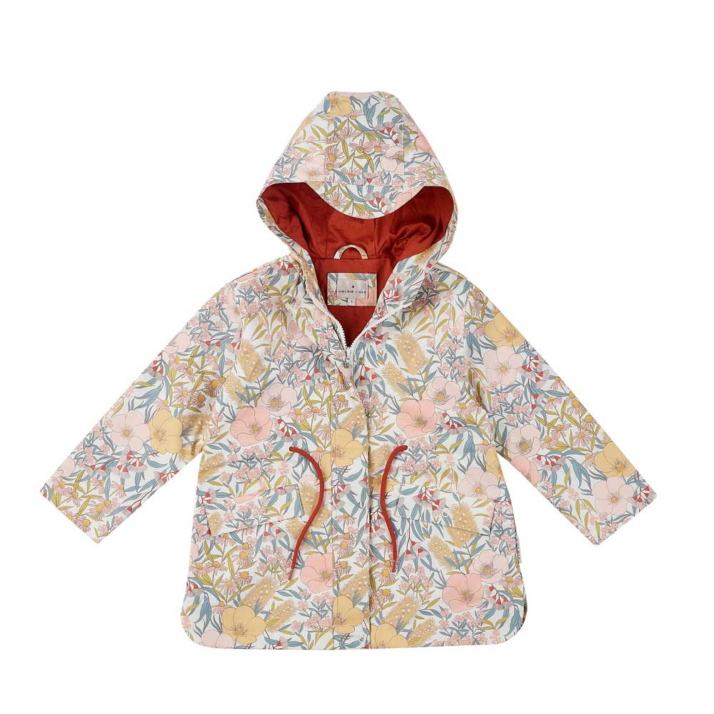 Vintage Floral Girls Raincoat