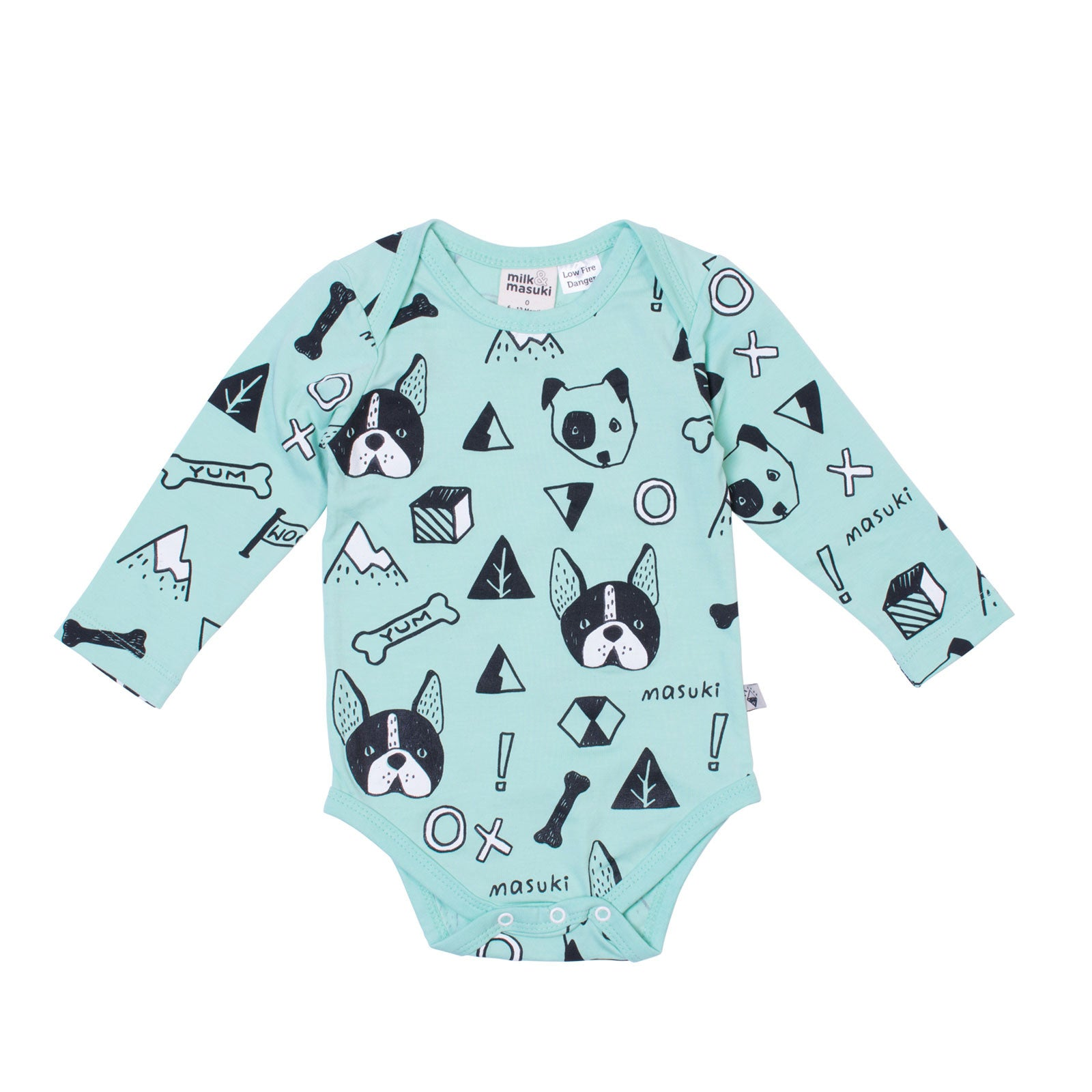 Woof Long Sleeve Bodysuit
