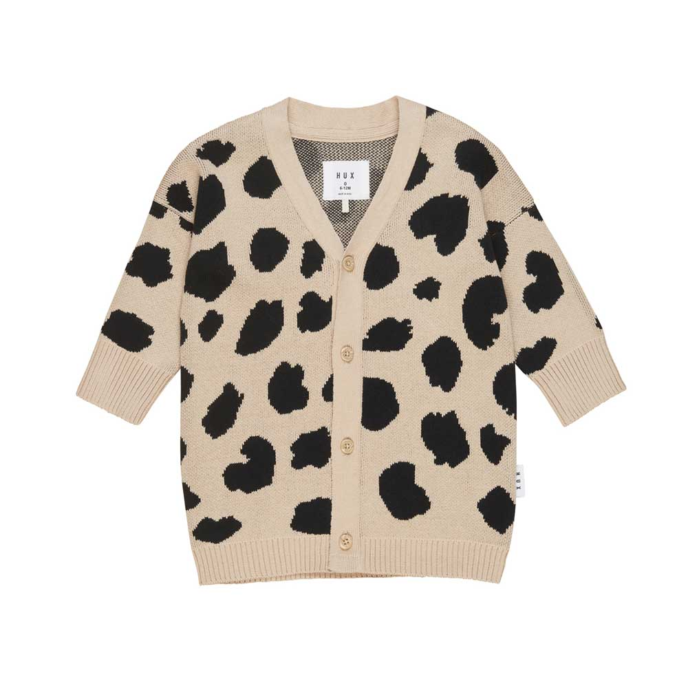 Animal Spot Knit Cardi Sand