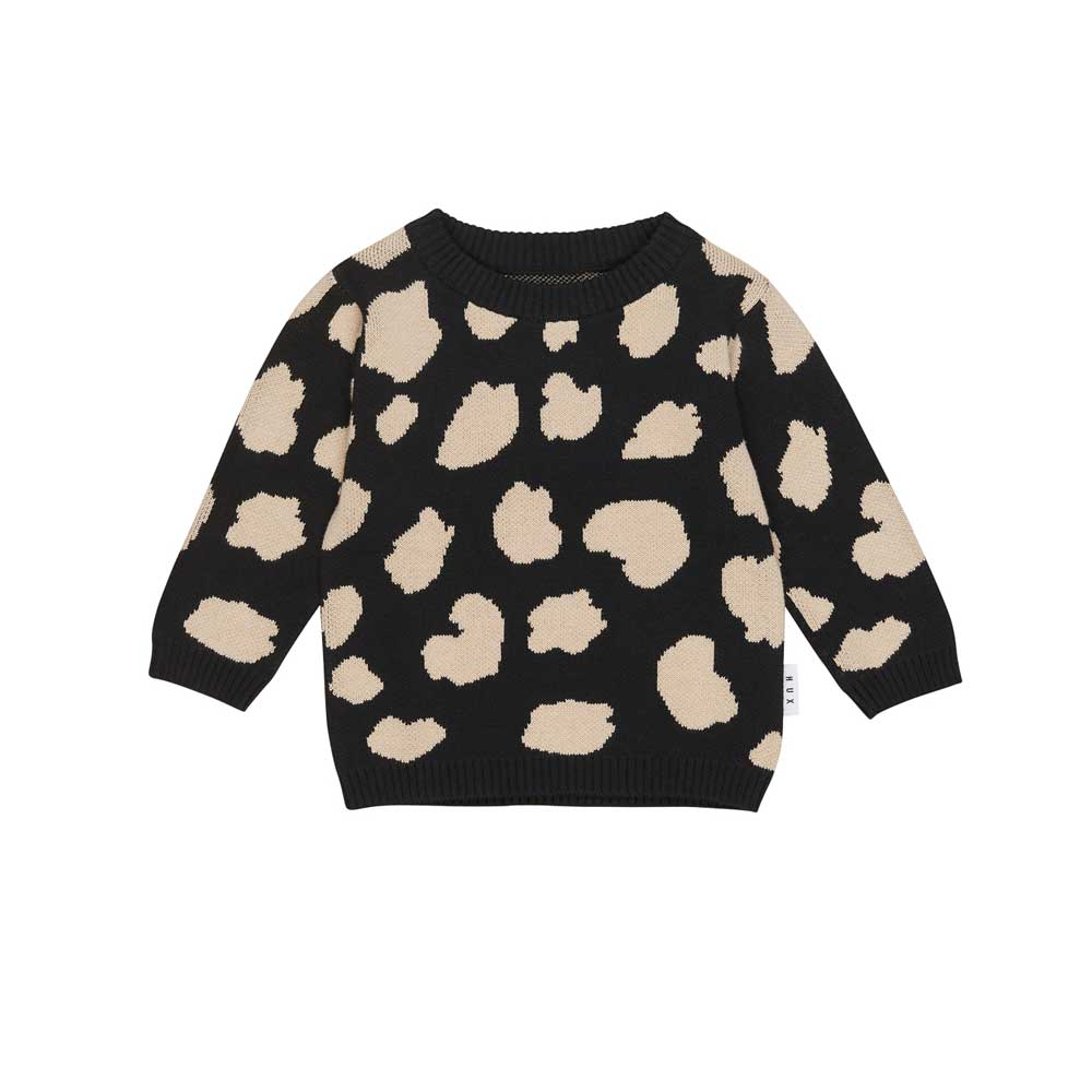 Animal Spot Knit Jumper Black