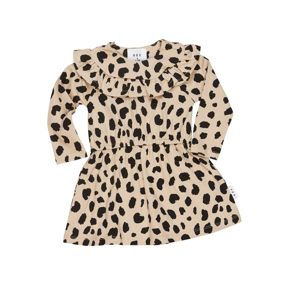 Animal Spot Long Sleeve Dress