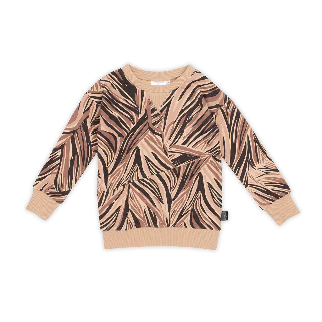 Animalistic Panel Sweater