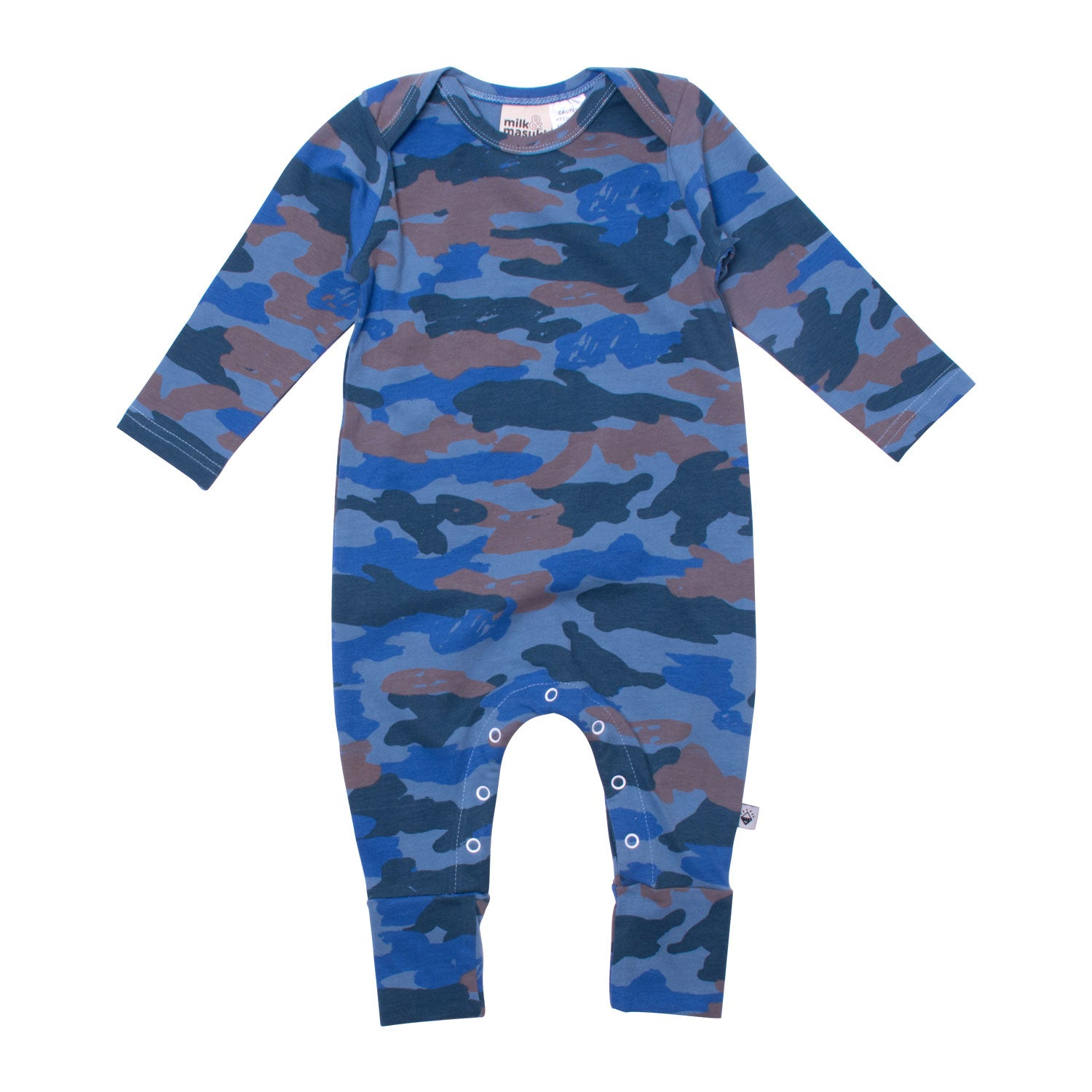 Camo Long Sleeve Baby Button All