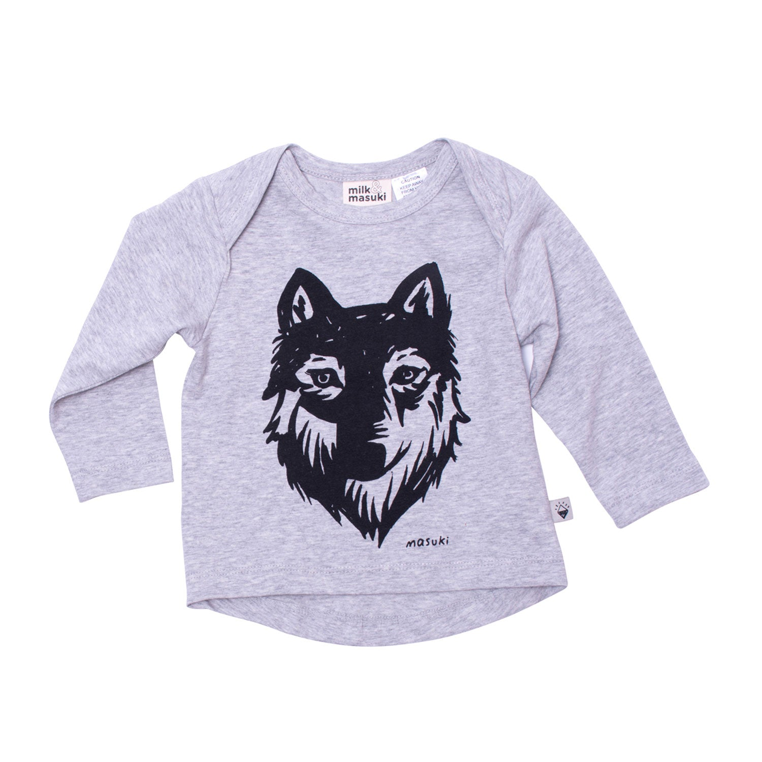 Wolf Long Sleeve Baby Tee
