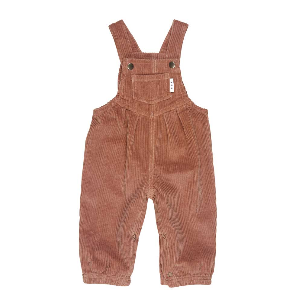 Baby Cord Overalls Terracotta