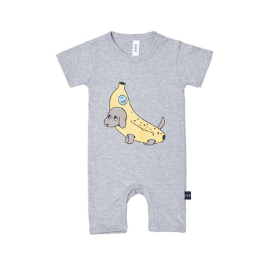 Banana Dog Short Baby Romper