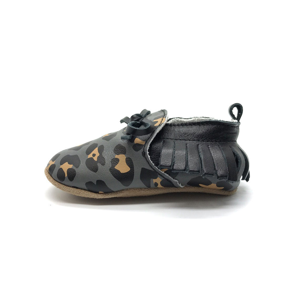 Black Leopard Moccasin