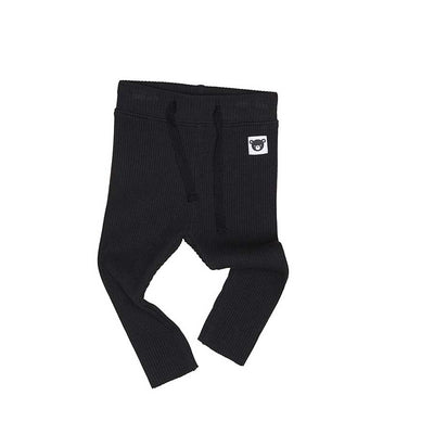 Rib Legging Black