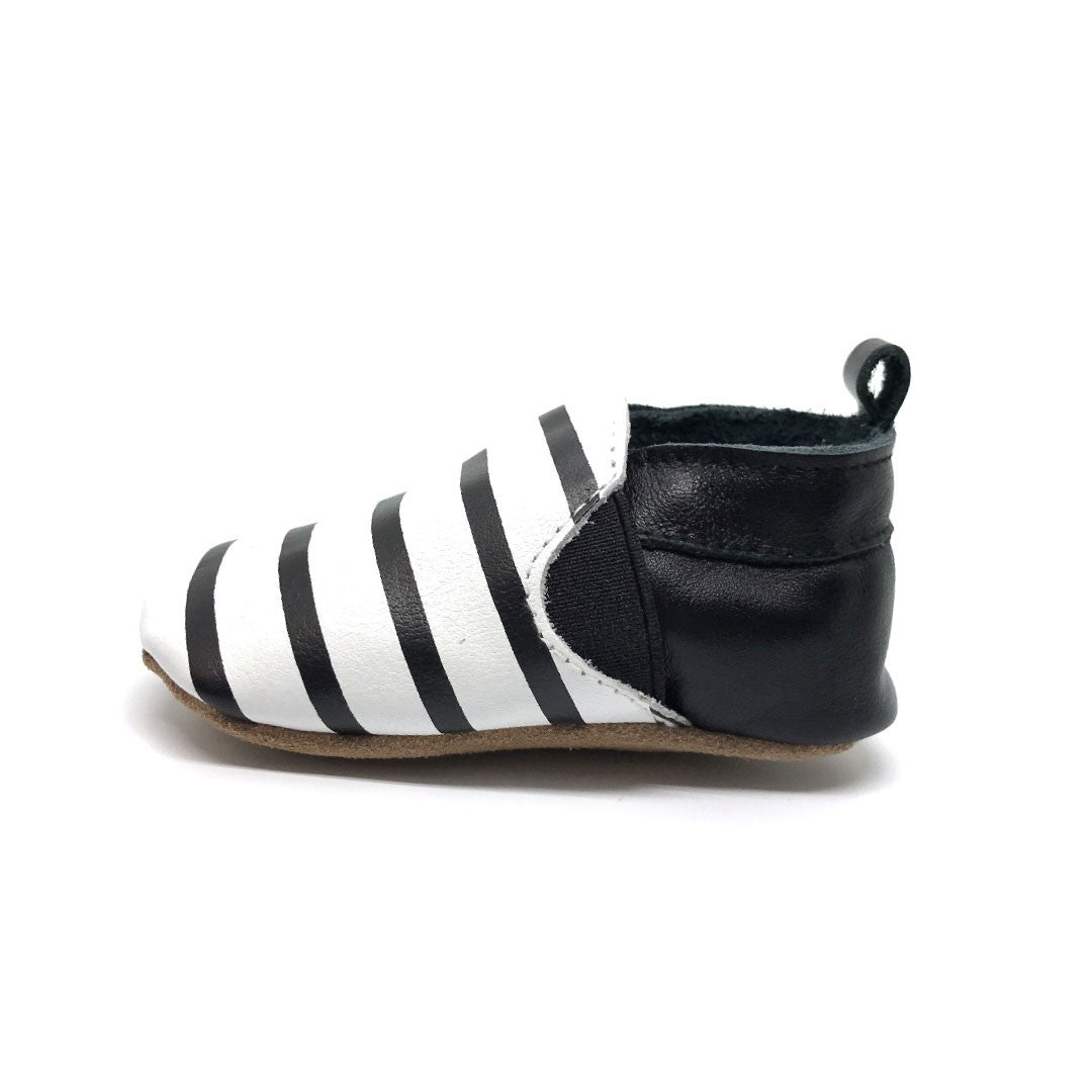 Black and White Stripe Moccasin