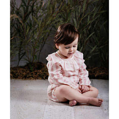 Block Stripe Smock Blush