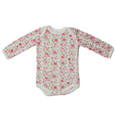 Blush Organic Long Sleeve Onesie.