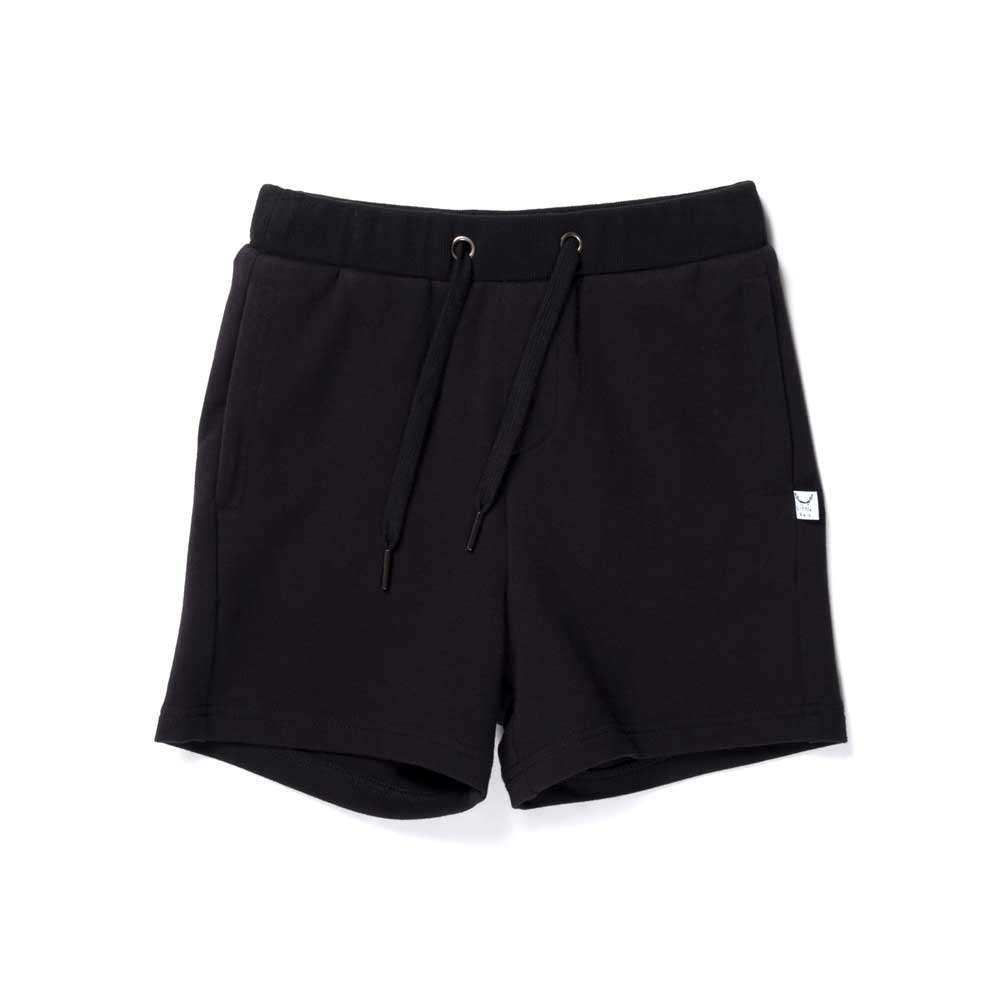Branded Sweat Short Black