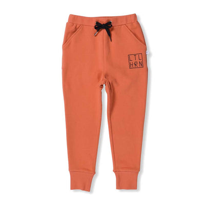 Branded Cuffed Trackpants Orange