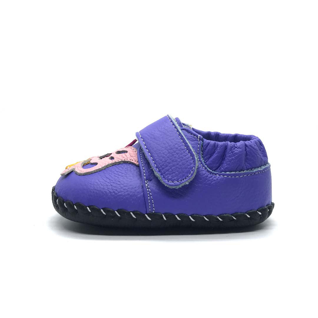 Purple Butterfly Baby Shoe
