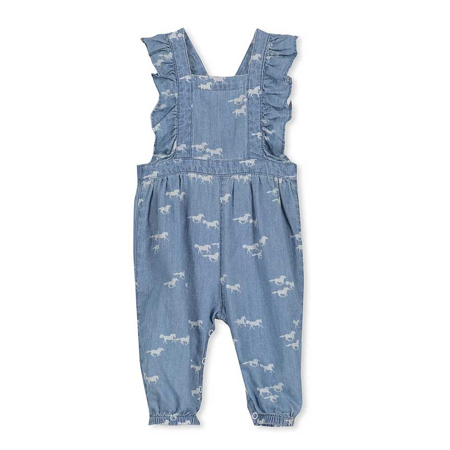 Chambray Baby Overalls