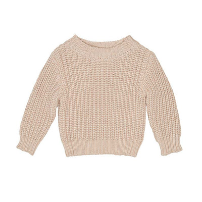 Chunky Knit Jumper Biscuit