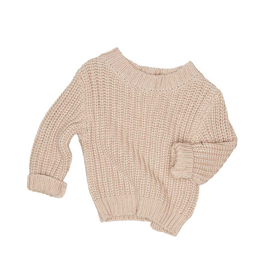 1765169c1 Chunky Knit Jumper Biscuit - Baby Bootique